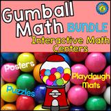 GUMBALL Math BUNDLE - Number Play Dough Mats, Anchor Charts, Puzzles