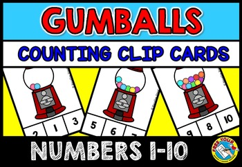 GUMBALLS THEME ACTIVITIES: KINDERGARTEN PRINTABLES: GUMBALLS COUNTING CENTER
