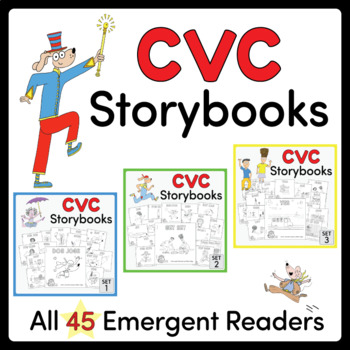 CVC Storybooks ~ ALL 45 BOOKS