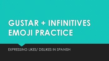 GUSTAR/ INFINITIVES WITH EMOJIS WRITING/ SPEAKING PRACTICE