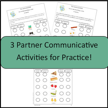 GUSTAR NOTES, handout and communicative activities