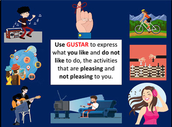 USE OF GUSTAR + NOUNS and VERBS IN SPANISH