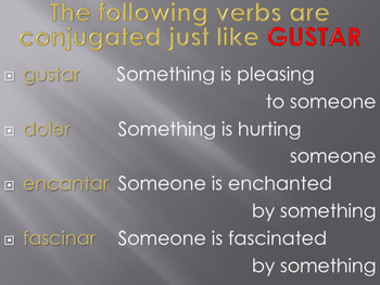 GUSTAR and similar verbs, with conversation starters!