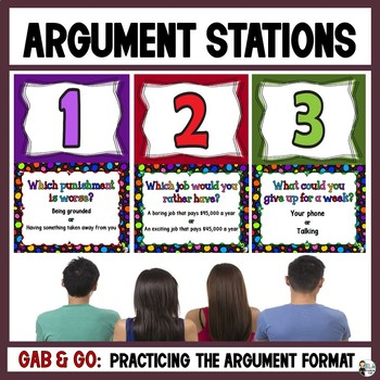 Argument Gab & Go Stations: Practicing the Argument Writing Format