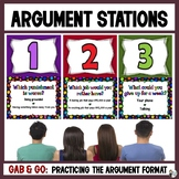 Argument Gab & Go Stations: Practicing the Argument Writin