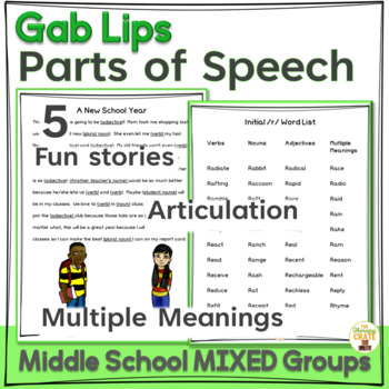 Gab Lips Fill-in-the-Blank Stories for Mixed Groups