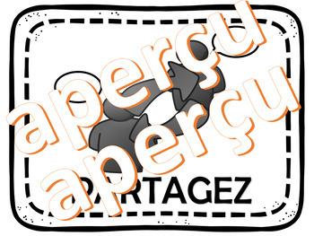 Gabarit et Affiches Pensez-Partagez-Présentez (Think Pair Share) French