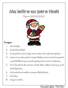 Lettre Au Pere Noel Com.Lettre Au Pere Noel Worksheets Teaching Resources Tpt
