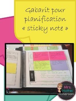 """Gabarits planification """"sticky notes"""" (Sticky Note Plannin"""