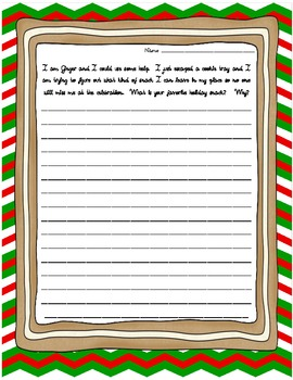 Gabbing Gingerbread Men: CCSS Writing Prompts