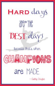 Gabby Douglas quote poster