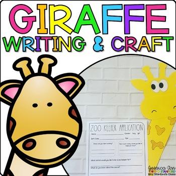 Gabby the Giraffe {Animal Craftivity and Writing Prompts!}