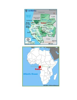 Gabon Map Scavenger Hunt