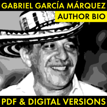 Gabriel Garcia Marquez Author Study Worksheet, Easy Biography Activity, CCSS