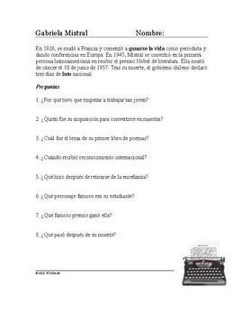 Gabriela Mistral Biografía: Spanish Biography of a Famous Chilean Poet