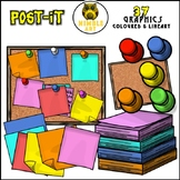 Post-it and Pin-board Clipart (Stationeries)