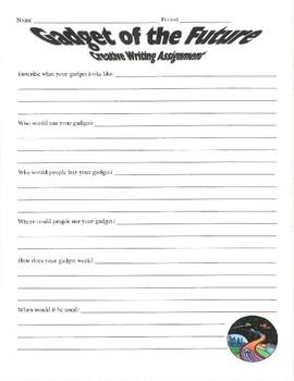 Gadget of the Future! Creative Writing worksheet