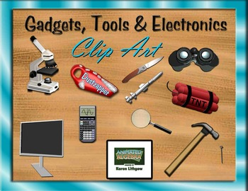 Gadgets, Tools and Electronics 3D Clip Art