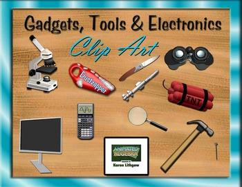 Gadgets, Tools and Electronics 3D Clip Art