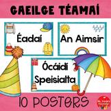 Gaeilge 10 Téamaí headings (10 Irish themes headings)