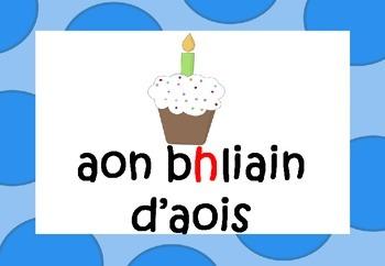 Gaeilge Aois (1-12 yrs) in Irish