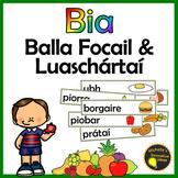 Gaeilge - Bia Balla Focail agus Luaschártaí