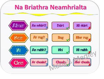 Gaeilge - Briathra Neamhrialta (Aimsir Chaite)