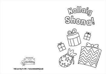 Gaeilge Christmas Card Template