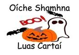 Gaeilge Halloween Oiche Shamhna Flash Cards Luas Cartai