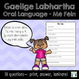 Gaeilge Labhartha - Mé Féin - Laminate and use all year!