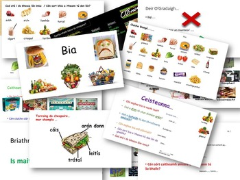 Gaeilge Lessons for Caitheamh Aimsire and Bia powerpoints