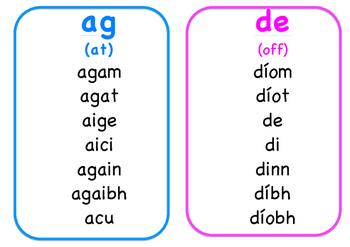Gaeilge- Prepositional Pronouns