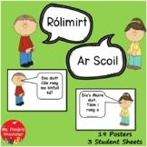 Gaeilge Rólimirt Poster & Worksheet Set Ar Scoil (Irish Roleplay, School Theme)