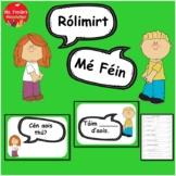 Gaeilge Rólimirt Poster & Worksheet Set Mé Féin (Irish Roleplay, Theme=Myself)