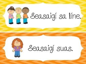 Gaeilge sa Seomra Ranga - Irish in the Classroom - flashcards
