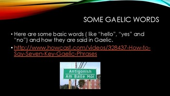 Gaelic Culture Slides: PDF