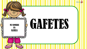 Gafetes Worksheets Teaching Resources Teachers Pay Teachers
