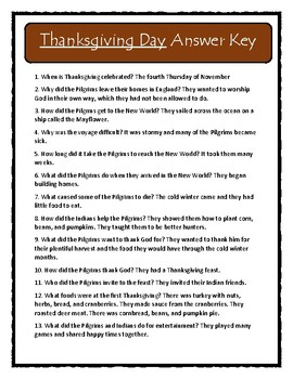 Gail Gibbons THANKSGIVING DAY - Comprehension & Text Evidence