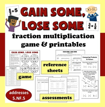 Gain Some, Lose Some – fraction multiplication as scaling game and printables