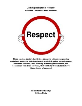 Gain your Student's Respect so they Learn More! These Activities will help!