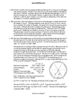 Gaining Math Momentum II WarmUp Set 5