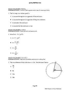 Gaining Math Momentum II WarmUp Set 9