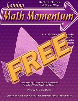 Gaining Math Momentum II WarmUps - FREE!!