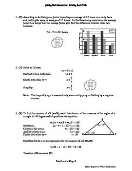 Gaining Math Momentum WarmUp Set 1