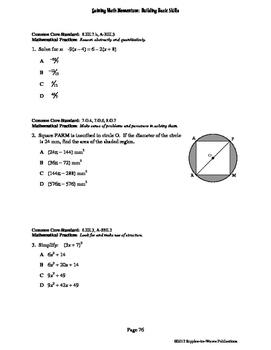 Gaining Math Momentum WarmUp Set 8