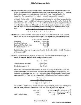Gaining Math Momentum in Algebra WarmUp Set 2: Solving Equations & Inequalities