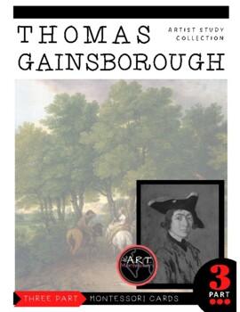 Thomas Gainsborough Montessori 3 Part Cards with Display Card