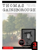 Artist Thomas Gainsborough Montessori 3 Part Cards with Di