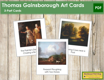 Gainsborough (Thomas) 3-Part Art Cards