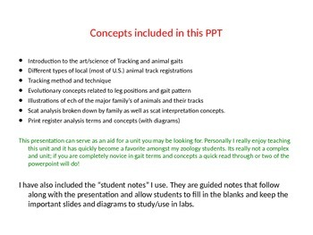Gait Analysis Pres. and Student NOTES